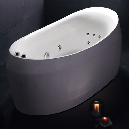 Hydra Pro Freestanding Double Ended Whirlpool Bath 1800x900mm