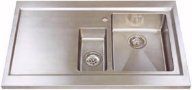 Astracast Sink Bistro 1.5 bowl sit on work centre with left hand drainer & extras.