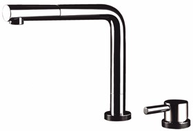 Astracast Nexus Conforto chrome kitchen mixer tap with pull out rinser.
