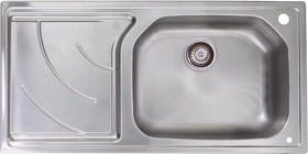 Astracast Sink Echo 1.0 bowl stainless steel kitchen sink with left hand drainer.
