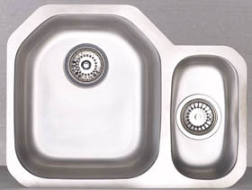 Astracast Sink Echo D1 1.5 bowl right handed stainless steel kitchen sink.