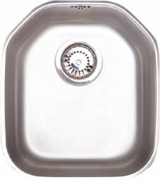 Astracast Sink Echo S1 large bowl polished steel undermount kitchen sink.