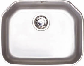 Astracast Sink Echo S2 large bowl polished steel undermount kitchen sink.