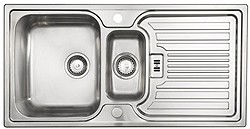 Astracast Sink Montreux 1.5 bowl brushed stainless steel kitchen sink & Extras.