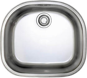 Astracast Sink Opal D1 arched bowl polished steel undermount kitchen sink.