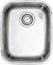 Astracast Sink Opal S1 large bowl polished steel undermount kitchen sink.
