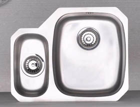 Astracast Sink Opal S3 1.5 bowl left handed stainless steel kitchen sink.