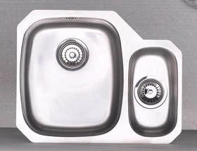Astracast Sink Opal S3 1.5 bowl right handed stainless steel kitchen sink.