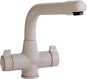 Astracast Contemporary Targa kitchen mixer tap. Island Sand off white colour.