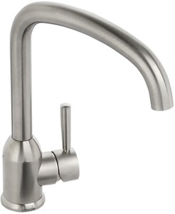 Abode Tate Monobloc Kitchen Tap With Swivel Spout (Brushed Nickel).