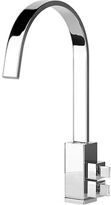 Abode Graffik Monobloc Kitchen Tap With Swivel Spout (Chrome).