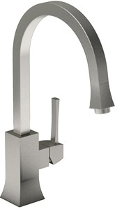 Abode Decadence Single Lever Kitchen Tap (Brushed Nickel).