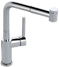 Abode Aurora Pull Out Kitchen Tap With LED Temperature Indicator.