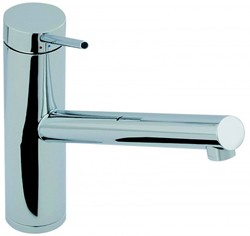 Abode Pluro Single Lever Kitchen Tap With Swivel Spout (Chrome).