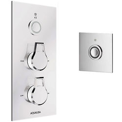 Aqualisa Infinia Digital Shower, Remote (Chrome & White Astratta Handles, HP).