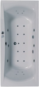 Aquaestil Arena Eclipse Aquamaxx Whirlpool Bath. 24 Jets. 1800x800mm.