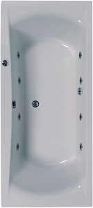 Aquaestil Arena Double Ended Whirlpool Bath. 8 Jets. 1800x800mm.