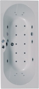 Aquaestil Calisto Eclipse Double Ended Whirlpool Bath. 24 Jets. 1700x700mm.
