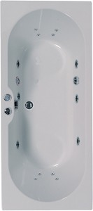 Aquaestil Calisto Double Ended Whirlpool Bath. 14 Jets. 1800x800mm.