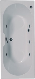 Aquaestil Calisto Double Ended Whirlpool Bath. 6 Jets. 1800x800mm.