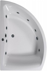 Aquaestil Comet Corner Whirlpool Bath, 8 Jets. Left Handed. 1500x1000mm.