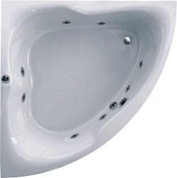 Aquaestil Gloria Corner Whirlpool Bath. 8 Jets. 1500x1500mm.