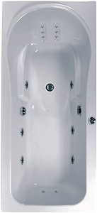 Aquaestil Iceland Large Whirlpool Bath. 14 Jets. 2000x900mm.