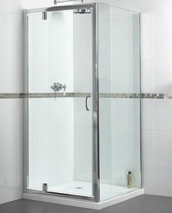 Aqualux Shine Pivot Shower Door. 800x1850mm.