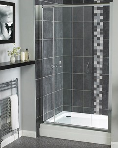 Aqualux Shine Sliding Shower Door. 1000mm.