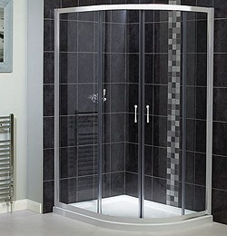 Aqualux Shine Offset Quadrant 6 Shower Enclosure. 900x760mm.