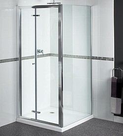 Aqualux Shine Shower Enclosure With 900mm Bi-Fold Door. 900x700mm.