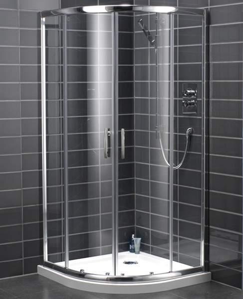 Bristan Java 900mm Quadrant Shower Enclosure With Sliding Doors Silver