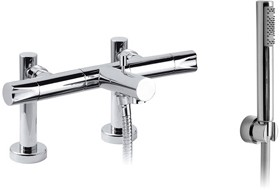 Vado Ixus Deck Mounted Bath Shower Mixer With Kit. 150mm Centers.