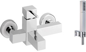 Vado Mix2 Wall Mounted Exposed Bath Shower Mixer With Kit.