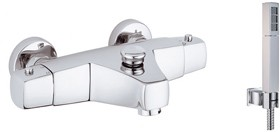 Vado Mix2 Wall mounted thermostatic bath shower mixer with kit.