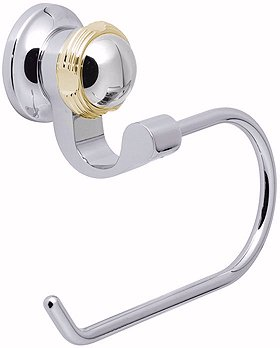 Vado Nautiq Toilet Roll Holder with Gold Trim.