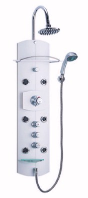 Vado Rainstation Thermostatic Shower Panel with 6 body jets.