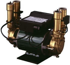 Stuart Turner Monsoon 2.0 Bar Twin Automatic Brass Shower Pump.