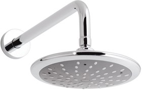 Vado Shower Chrome Disc single function shower head and arm.