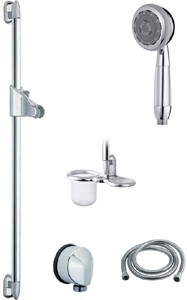 Vado Shower 900mm H-Class multi function slide rail kit for low pressure use.