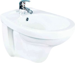 Shires Wall Hung Bidet with 1 Tap Hole.
