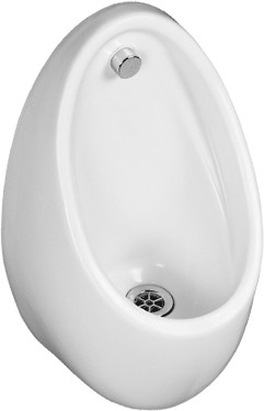 Shires Concealed Trap Urinal Bowl.