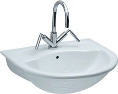 Aspen 1 Tap Hole Semi Recess Basin
