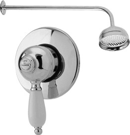 Viscount Manual single lever shower valve with BIR kit (Chrome)