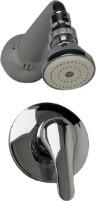Athena Concealed manual single lever shower valve with fixed head