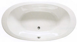 Shires 1800 x 960mm Gomera acrylic oval bath with no tap holes.