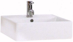 Shires Square Teorema Free-Standing Basin, 1 Tap Hole. 460x460x140mm.