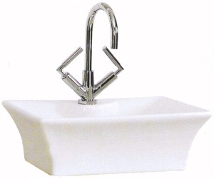 Shires Rectangular Tango Free-Standing Basin, 1 Tap Hole. 480x385x160mm.