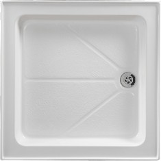 Shires Shower Trays White 770x770mm Square Shower Tray, 4 Upstands.