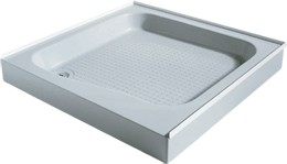 Shires Shower Trays White 800x800mm Shower Tray with 3 Upstands